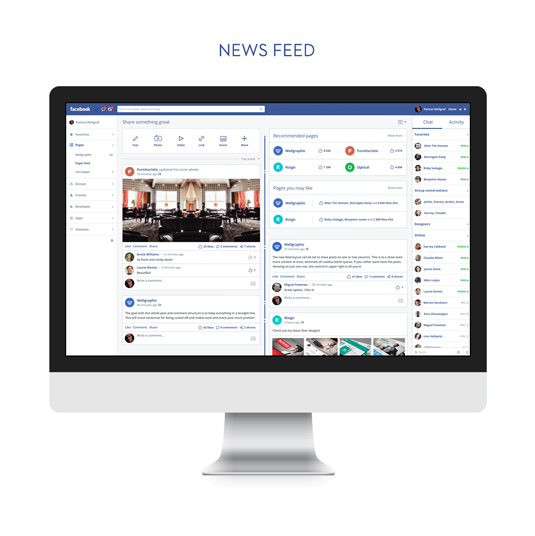 flat facebook