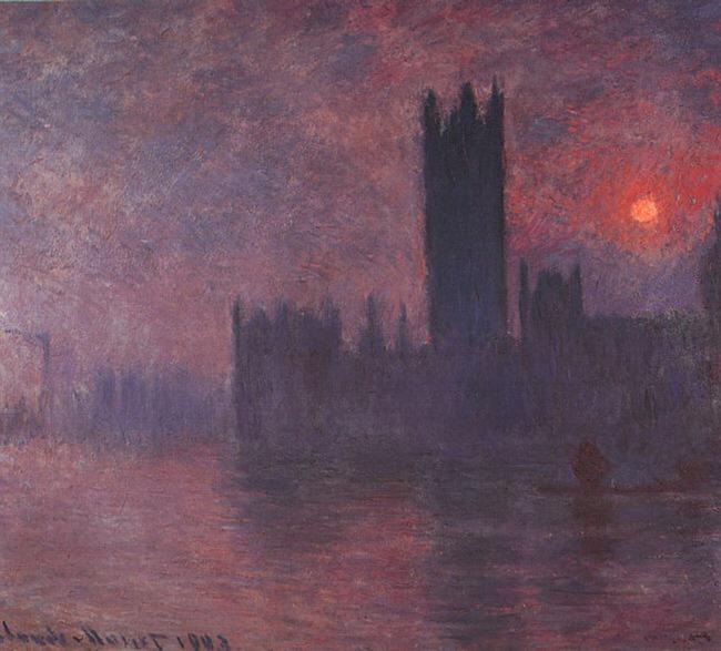 Лондонский парламент в тумане