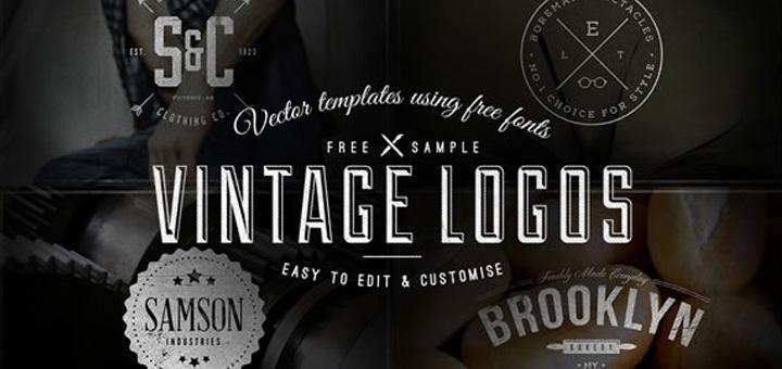 30 бесплатных шаблонов винтажных логотипов