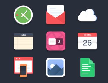 69_Flat icons (PSD)