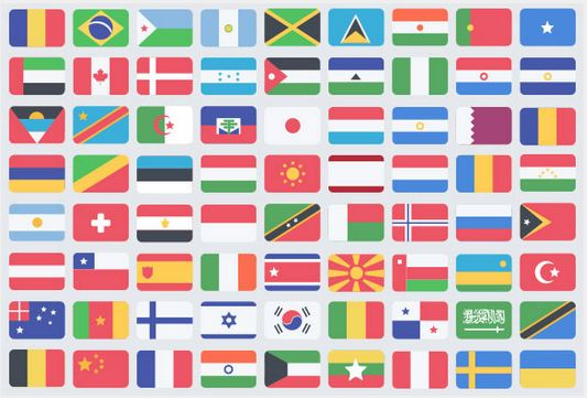 77_195 flat flag PSD icons