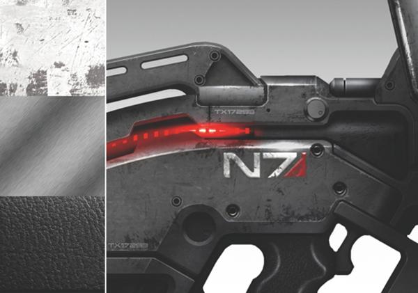 Дифференцируйте частей оружия, добавив различные текстуры