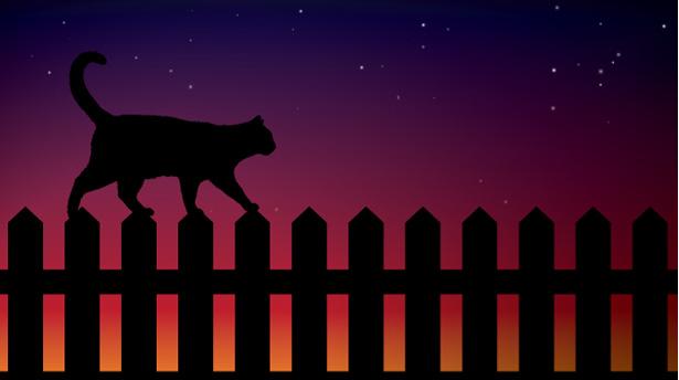 """Урок по созданию композиции с """"ночным котом"""" в Adobe Illustrator"""