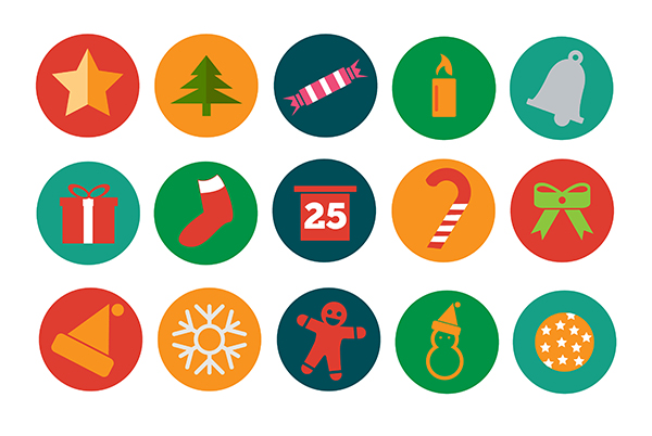 Christmas-Icons-Flat-Version