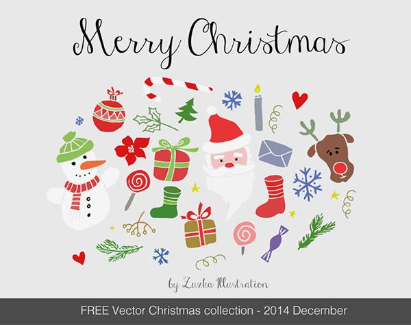 FREE-Merry-Christmas-vector-set