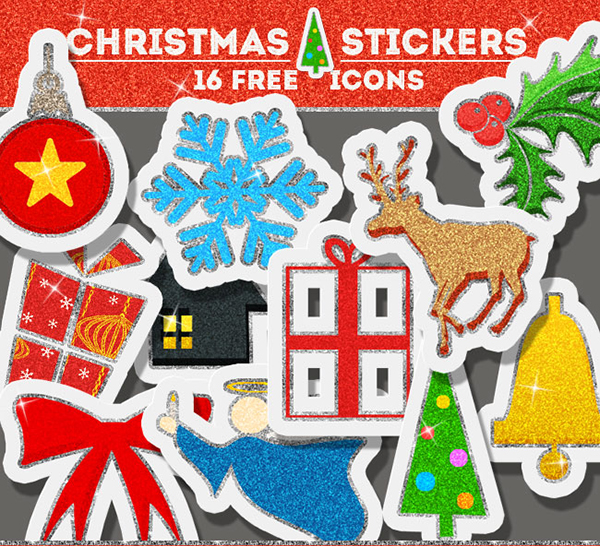 Free-Christmas-Glitter-Sticker-Icons