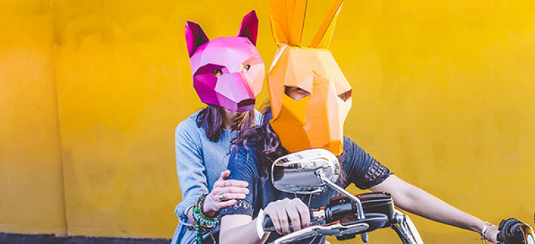 DIY-геометрические маски, которые можно смастерить дома