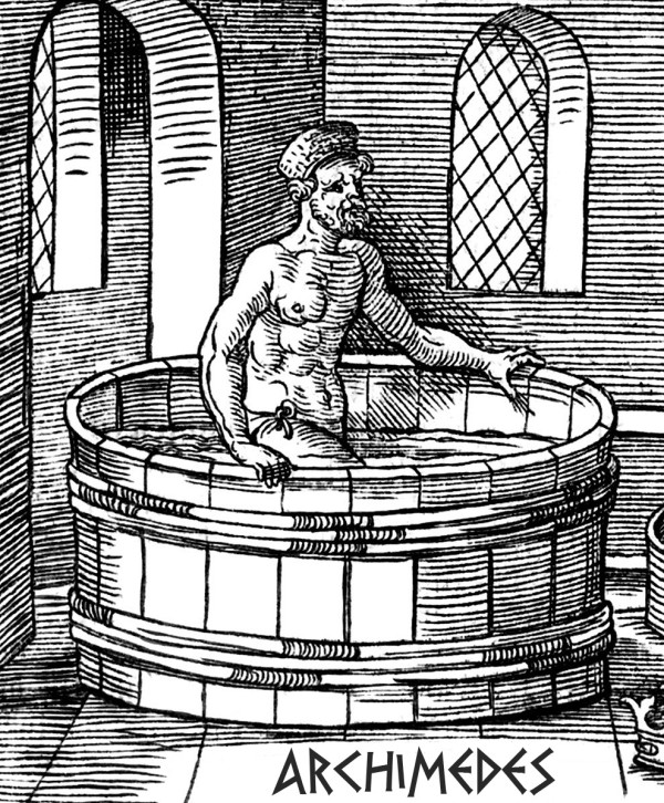 Архимед в ванне