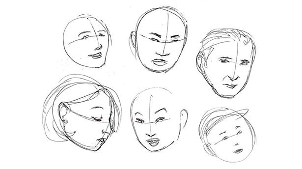 Основы рисования портрета. Пропорции и ракурсы.