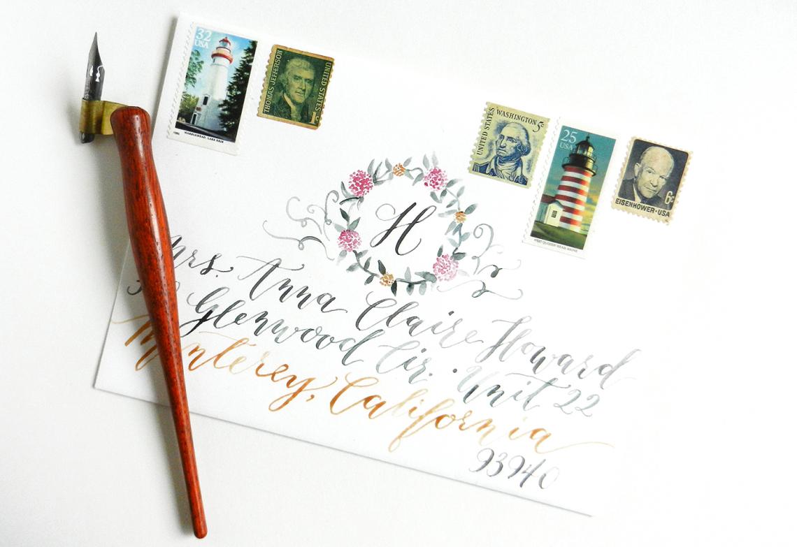 Конверты с каллиграфией не доставляются