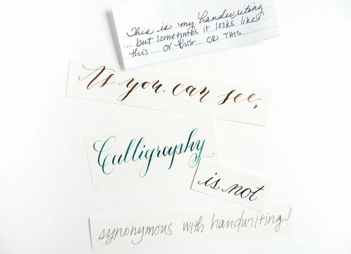 Если у вас плохой почерк, вы не сможете создать каллиграфию