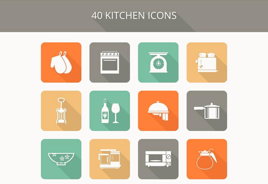 Набор кухонных иконок