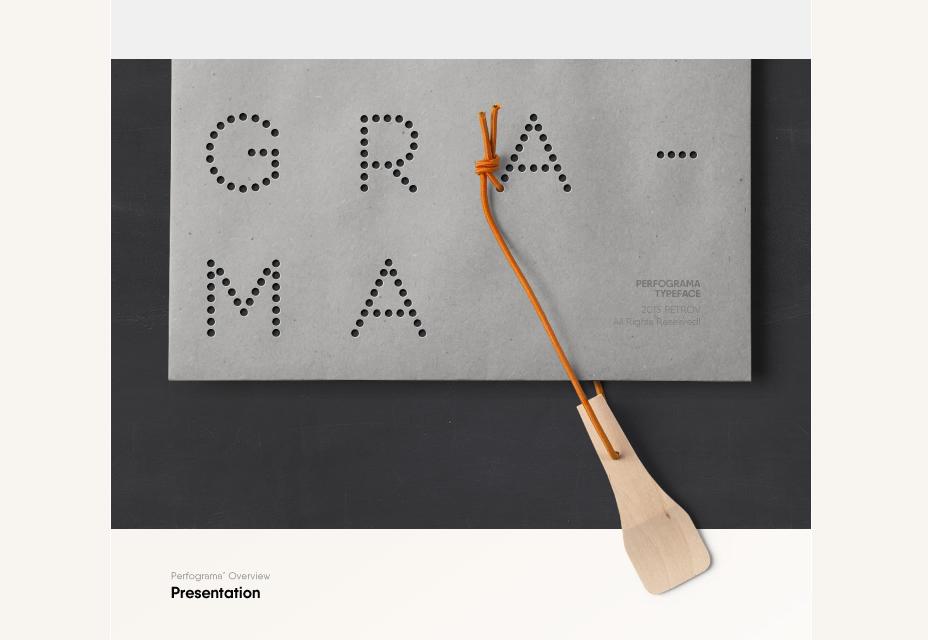 Шрифт Perfograma