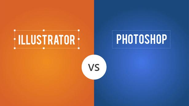 9 постеров изоборающих разницу между Adobe Illustrator And Photoshop