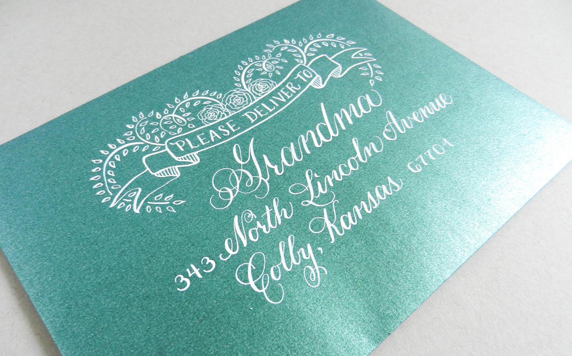 синия открытка