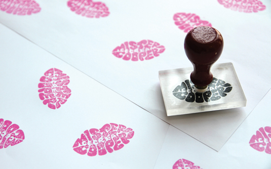 Creating a rubber stamp
