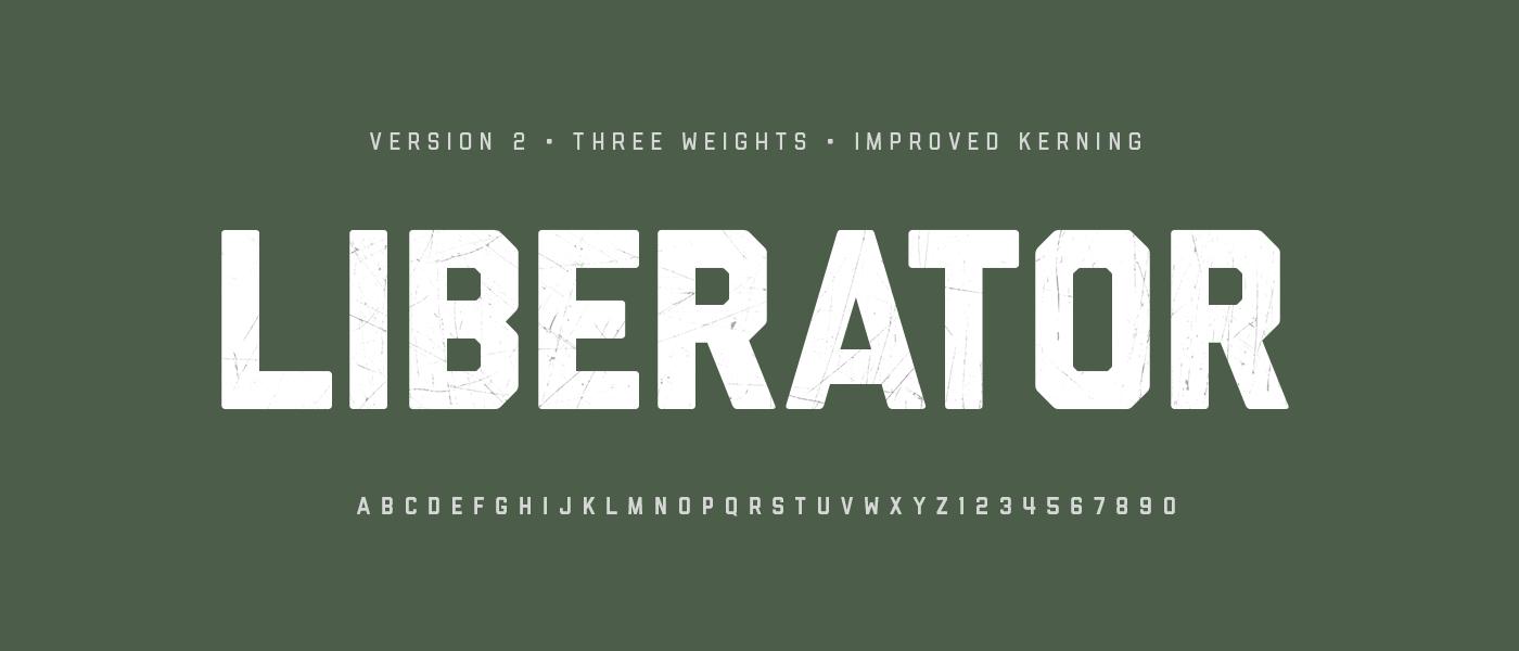 Liberator free font