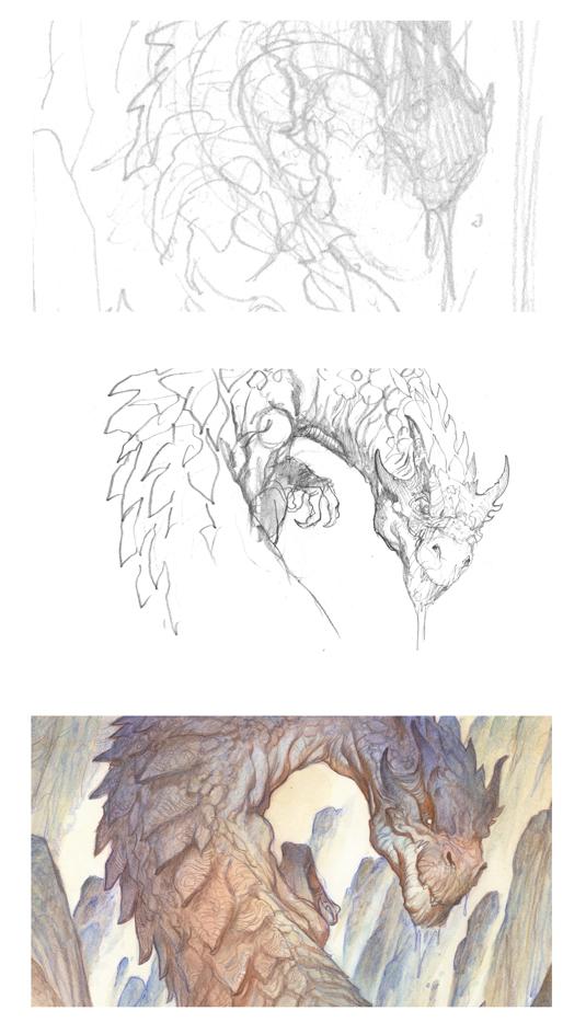 Картинка с драконом смаугом как нарисовать
