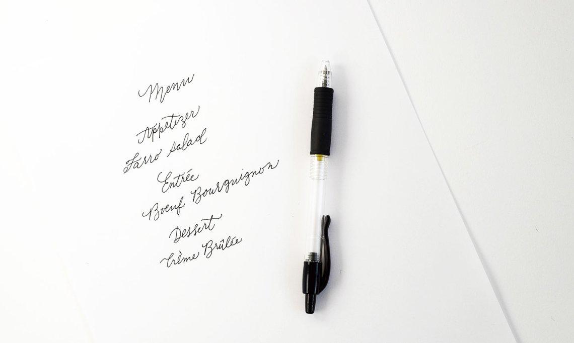 черная ручка, набросок
