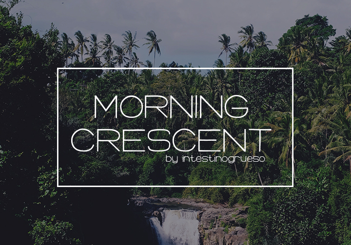 morning crescent free font