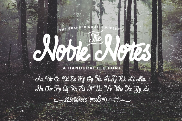 noble notes free font
