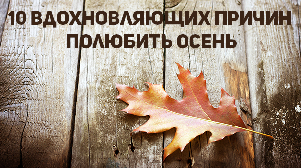10 вдохновляющих причин полюбить осень