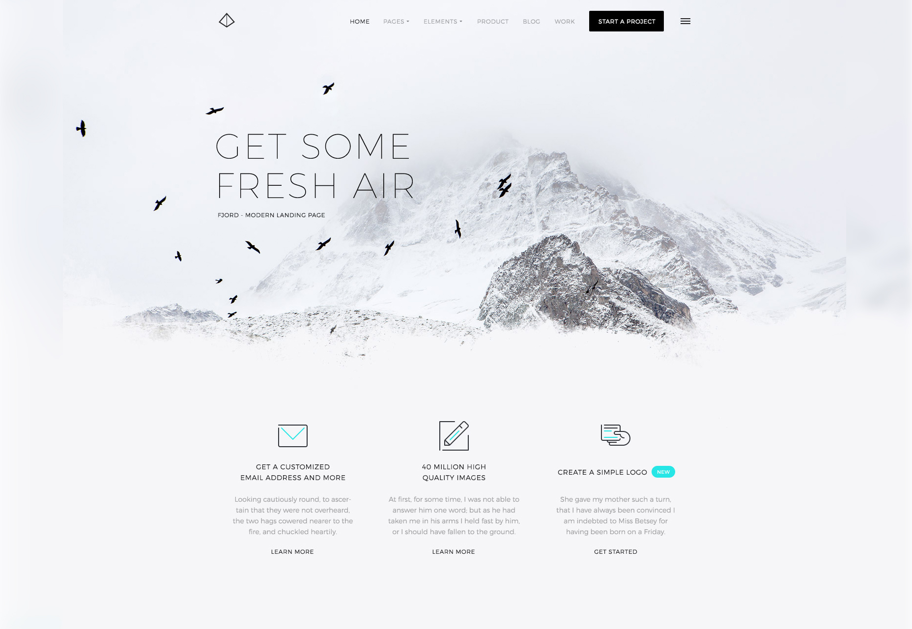 fjord-a-clean-cold-schemed-landing-page-theme
