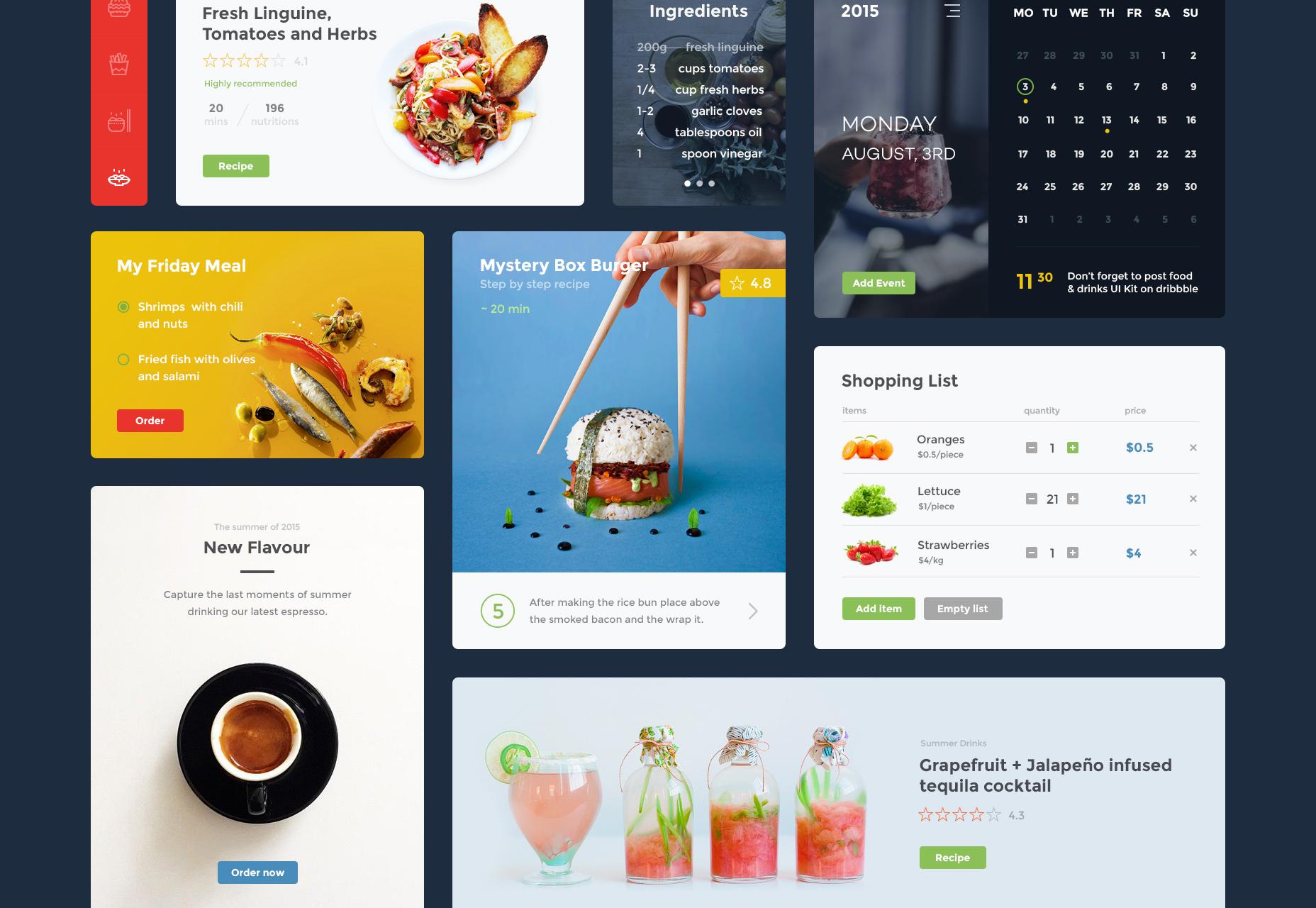 food-drink-website-ui-kit