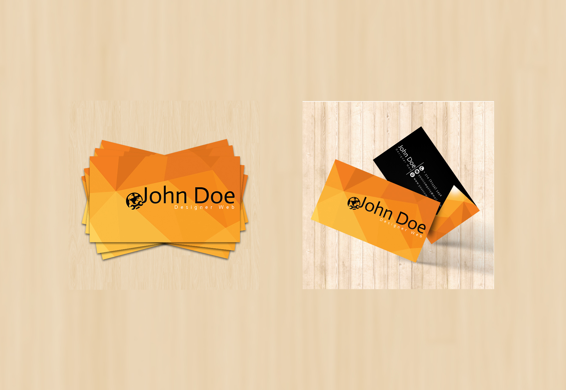 geometric-low-poly-background-business-card-template