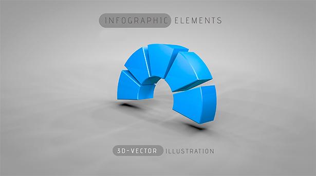 Уроки по созданию элементов инфографики в 3D