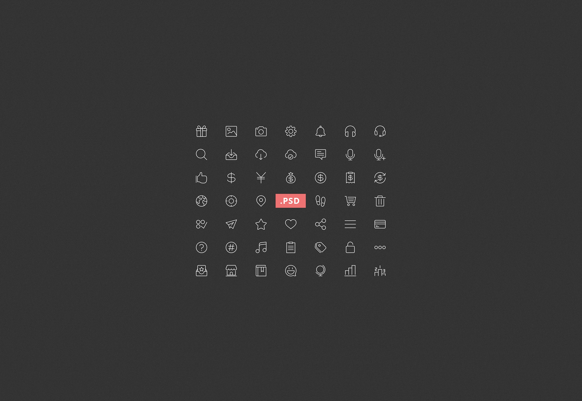 thin-line-style-psd-icons-set