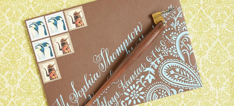 Как сделать крутой DIY конверт с каллиграфией и вкладышем