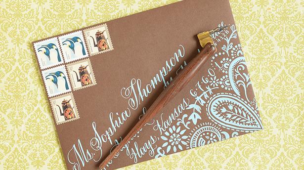 Как сделать крутой DIY конверт с каллиграфией и подкладкой
