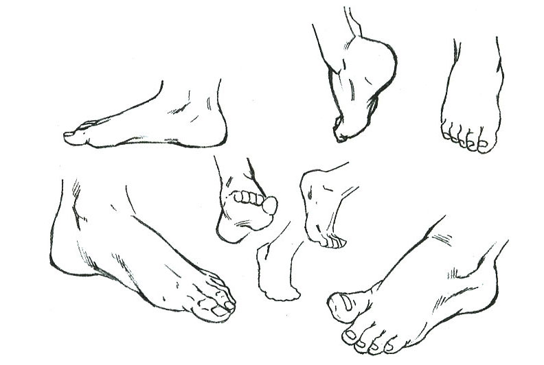 ног ступни рисунок карандашом