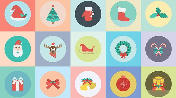 25 крутых бесплатных новогодних иконок
