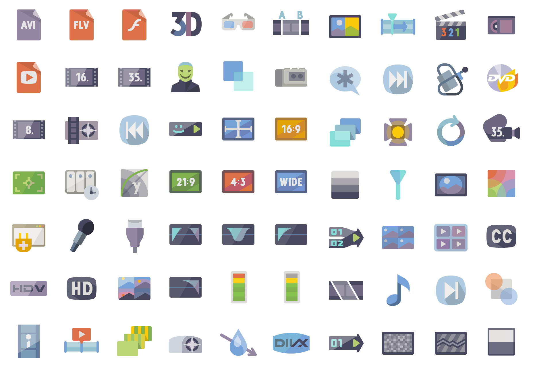 5k-video-production-flat-vector-icons