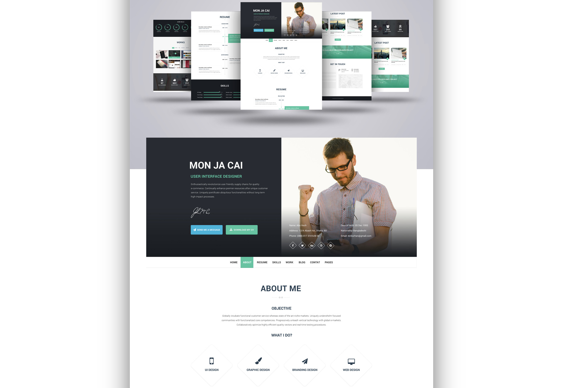 i-am-x-web-resume-psd-template