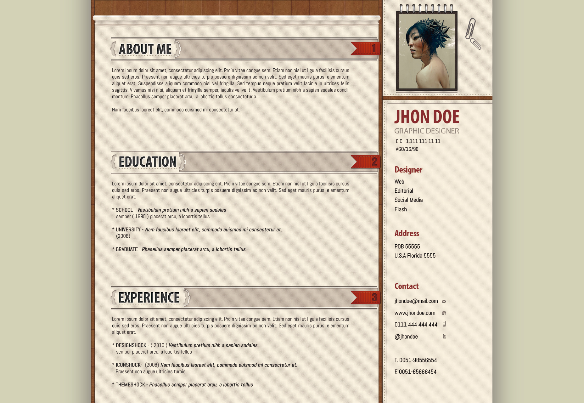 office-suited-resume-template