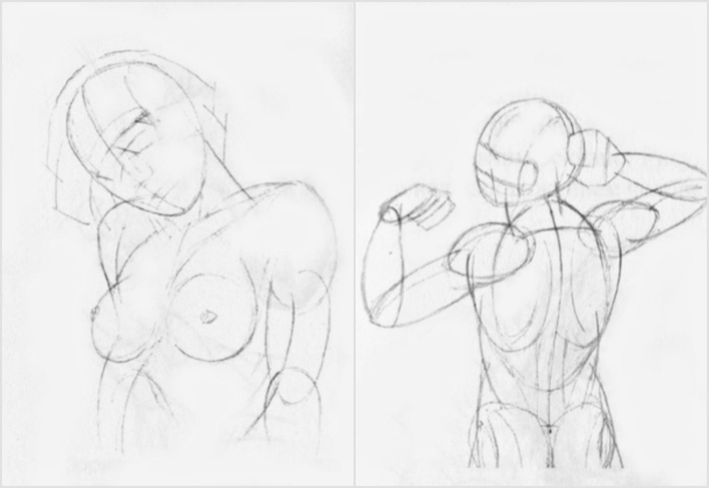 Женской рисунки женского тела карандашом голых фильм