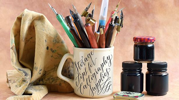 Советы каллиграфам: как хранить рабочие принадлежности