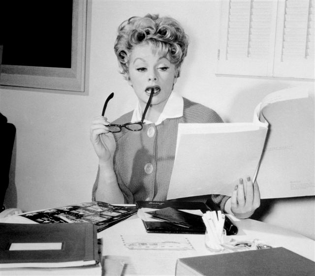 Lucille-Ball-reading-script-1