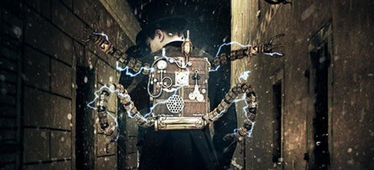 Как создать человека-робота на фоне винтажной архитектуры