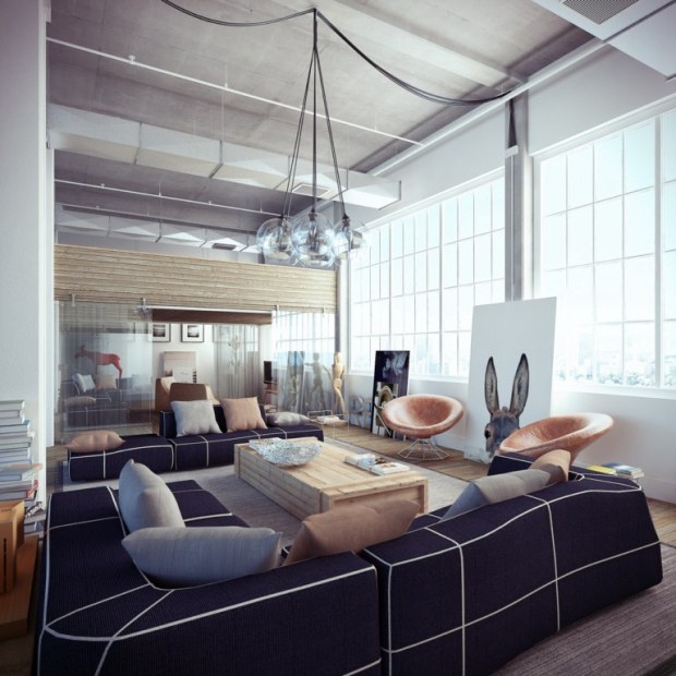 industrial-loft-with-white-and-navy-blue