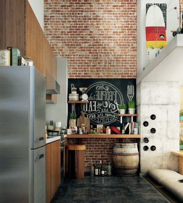 loft-exposed-brick-kitchen-600x665-e1412266653501