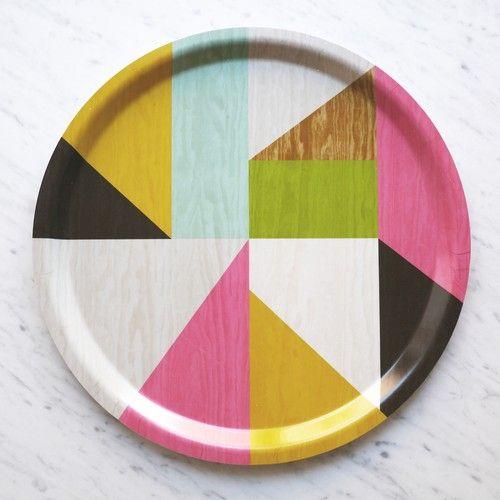 Декоративная тарелка - абстракция