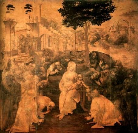 Пропись картины Да Винчи (неоконченная)