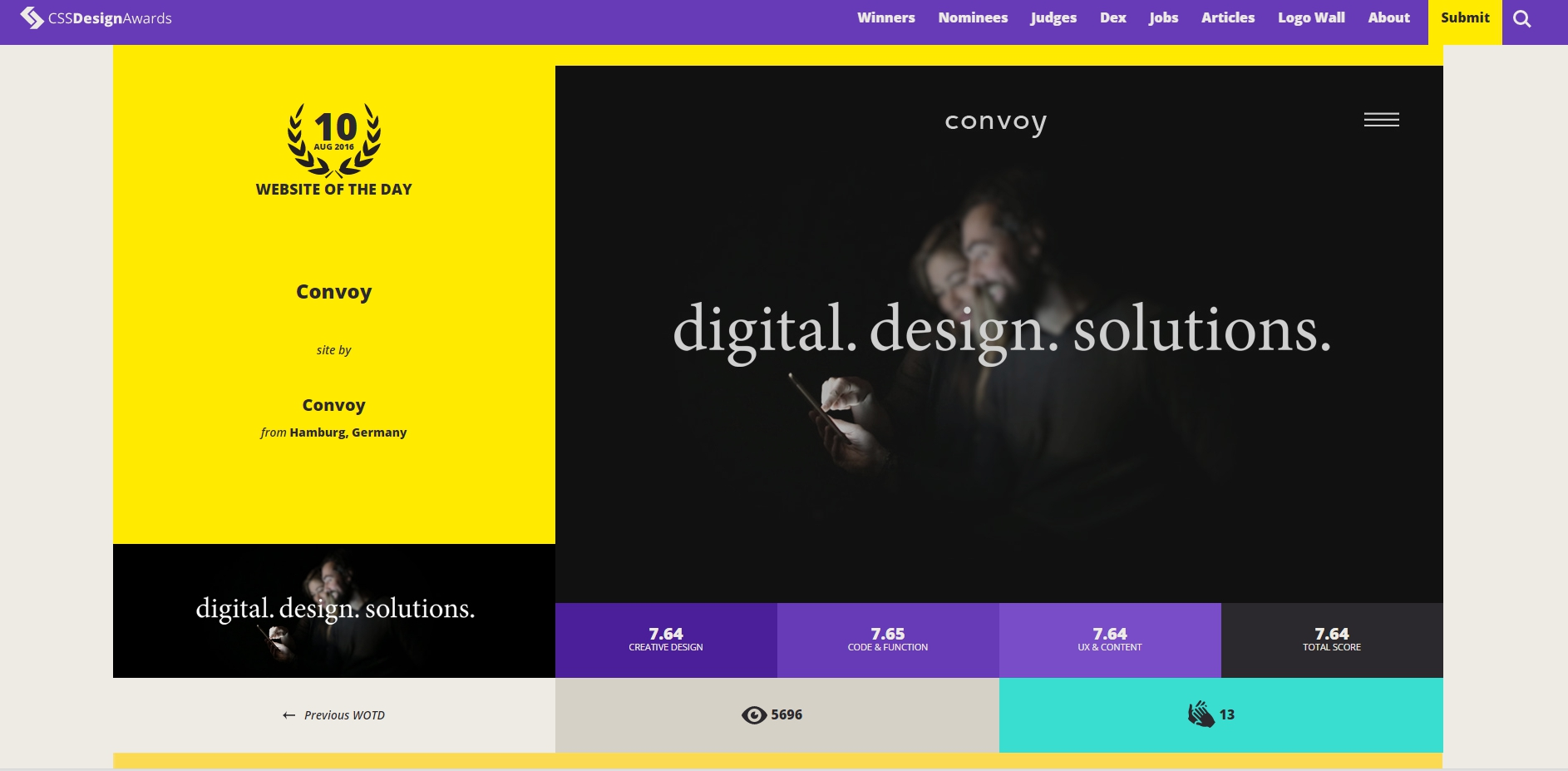 CSS Design Awards - Website Awards & Inspiration - CSS Gallery - CSSDA - Google Chrome