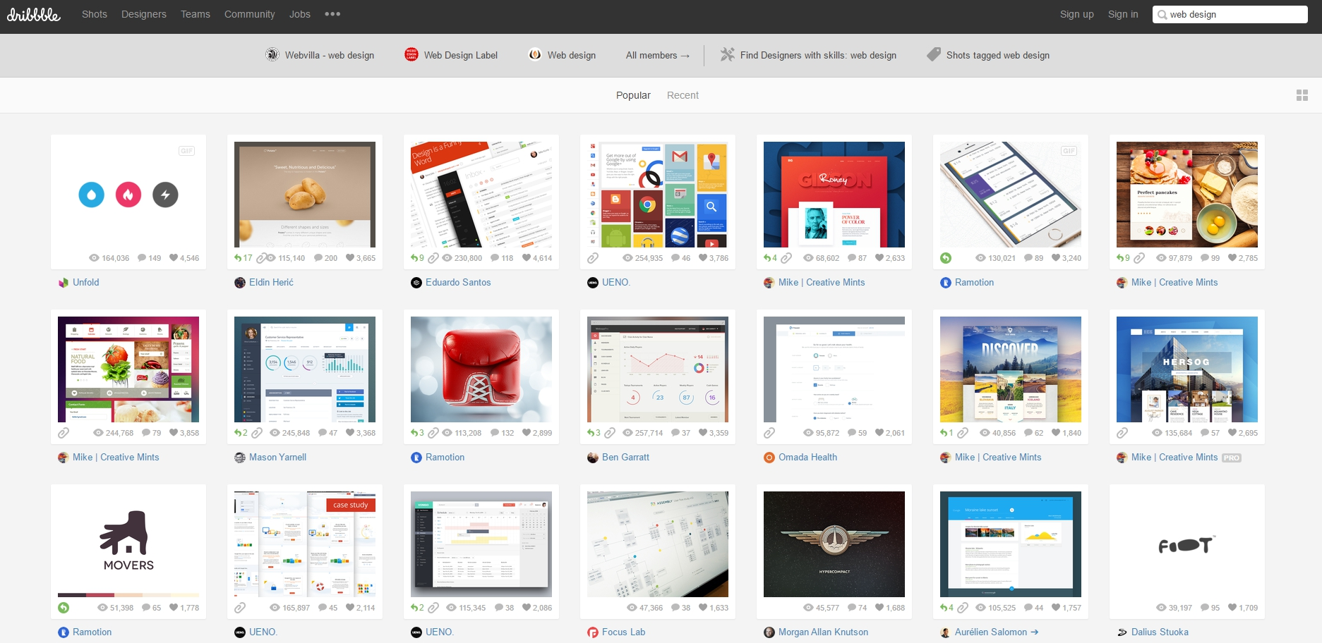 Dribbble - Show and tell for designers - Google Chrome