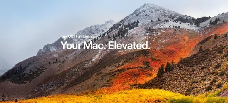 MacOS High Sierra: отличные новости для тех, кто занимается видео