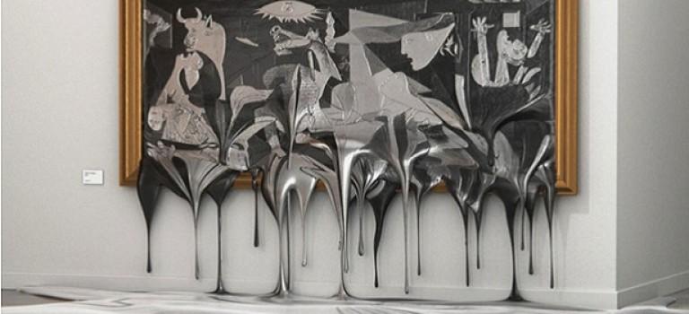 «Выставка горячего искусства», на которой растапливают работы Дали, Мунка и других